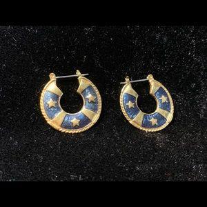 Vintage 80s costume earrings nautical themed